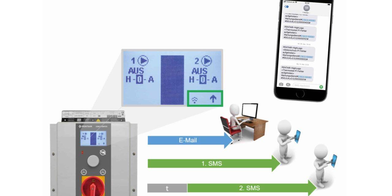 Pumpensteuerung kann im Alarmfall drahtlos kommunizieren